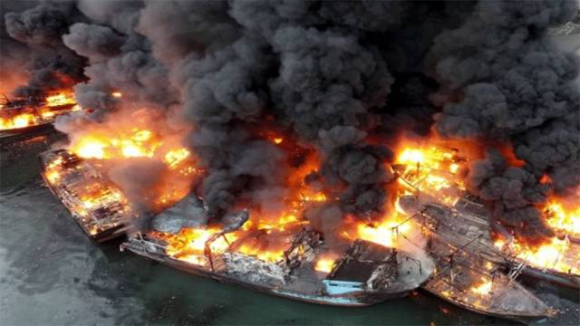 Indonesia: Over 30 Vessels Destroyed in Massive Fire